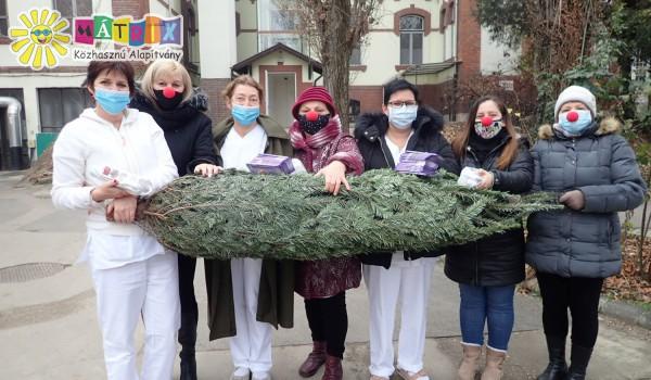 Karácsonyfákat kaptak gyermekkórházak - beteg gyermekek támogatása