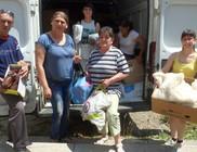 Öcsödiek kaptak adománycsomagot
