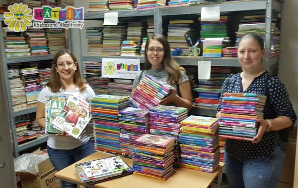 Könyv adomány, iskola, könyvtár, kórház támogatás