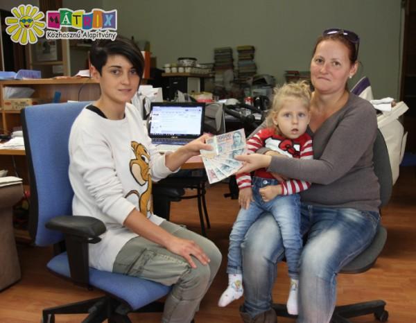 A súlyos beteg Dia családja gyógykezeléshez kapott segítséget