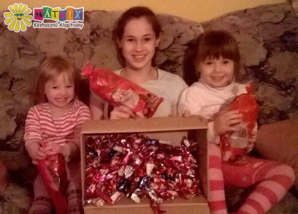 Célba ért egy ajándékcsomag