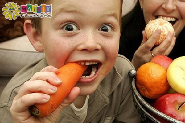 Gyümölcsöt és zöldség fontos vitaminforrásai a családoknak