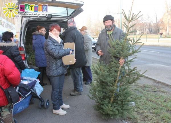 Karácsonyfát osztottunk rászoruló családoknak és közösségeknek
