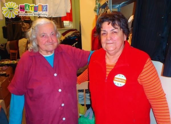 Mátrixos szépkorú, szorgos és segítő önkéntesek