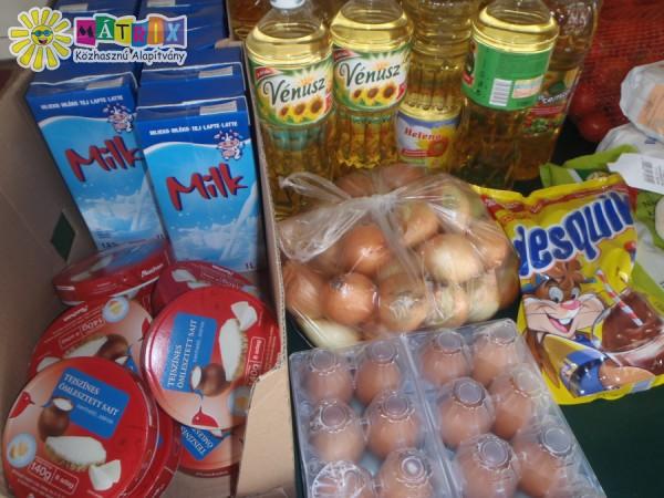 Rendszeresen folyik a Mátrix Élelmiszerrel támogató program