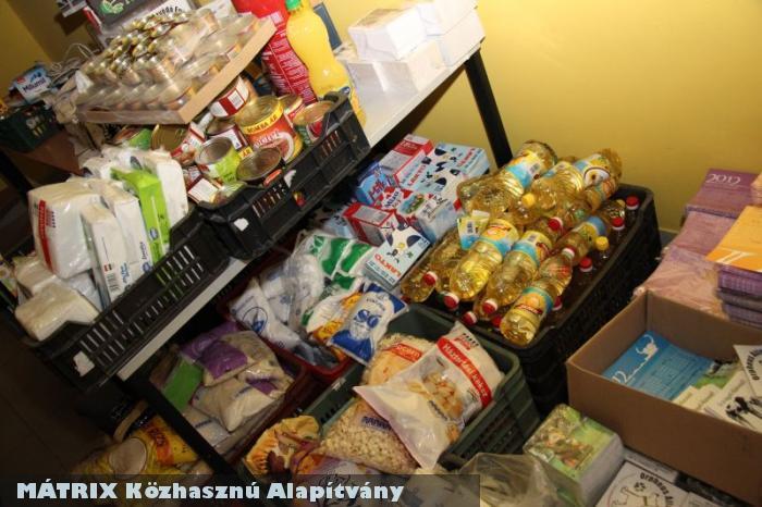Az összegyûjtött élelmiszerek